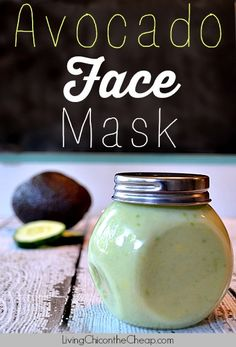 Avocado face mask: 1 ripe avocado 2 tbsp of honey 1/3 – 1/2 cups of plain yogurt 1 tsp of fresh lemon juice - See more at: http://livingchiconthecheap.com/avocado-face-mask/#sthash.q3IR9h7F.dpuf