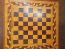 Early Table Top Game Board Inlayed Rosewood Ornate Boarder 1870's Hepplewhite