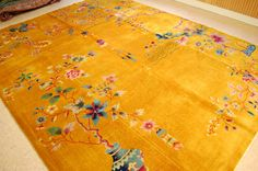 C1920s Antique Mint Art Deco Room Size Chinese Nichols Rug 8 10x11 4 Gold Beauty | eBay