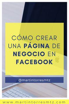 Crea una Página de Negocio en Facebook Facebook Business, Facebook Marketing, Business Marketing, Social Media Marketing, Digital Marketing, How To Use Facebook, Facebook Sign Up, Social Media Humor, La Red