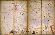 Map of Europe, North Africa, and the Near East.   (BNF, Esp 30)   The Catalan Atlas   Spain, Majorca 14th century.