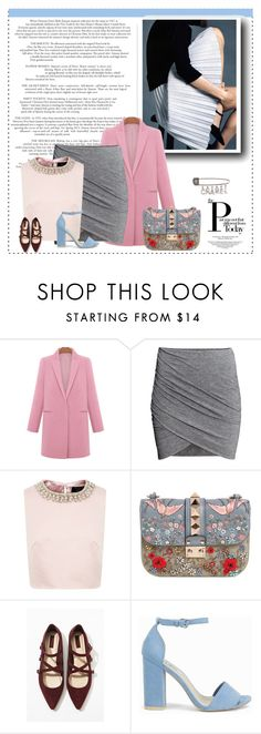 """""""Untitled #38"""" by lookpeople ❤ liked on Polyvore featuring H&M, Ted Baker, Valentino, Forever 21, Nly Shoes and Chanel"""