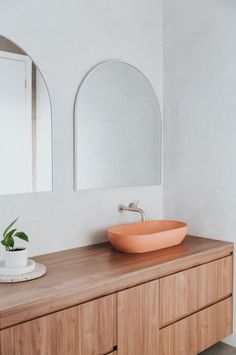 Architectural concrete leaders Concrete Nation share their top concrete colours for summer and Concrete Basin, Concrete Bathroom, Concrete Color, Custom Vanity, New Builds, Bathroom Interior, Home And Family, Contemporary, Modern