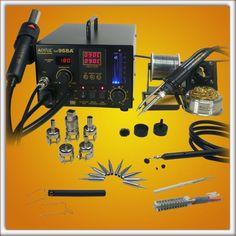 Soldering  Digital Hot Air 4 N 1 Repair Rework Station  Aoyue 968A  + SMD  New  #Aoyue