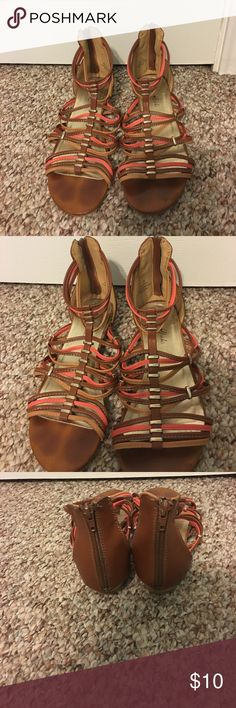 🏝Emma Brooke Sandals🏝 Worn a few times! Still in good condition! :).                                 All manmade materials Emma Brooke Shoes Sandals