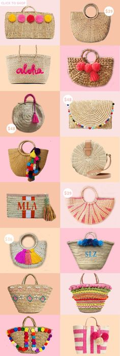summer accessories One trend I cant get enough of this season Straw bags! Today, Im rounding up the best straw bags of the summer. Summer Handbags, Straw Handbags, Summer Bags, Summer Gifts, Summer Wear, Summer Time, Sacs Tote Bags, Diy Sac, Basket Bag