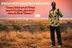 Le Prophète Kacou Philippe, Lumière qui est apparue en Afrique pour le Salut de quiconque croit.  Visitez le site www.philippekacou.org