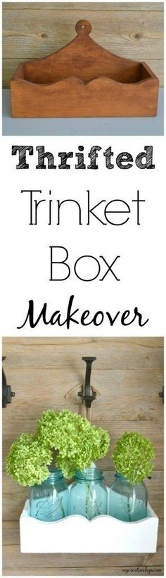 If you love a trinket box, head to your local thrift store and hunt for them. Then, click over and see how you make over the box in two steps to match the style of your home.