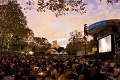 Check out our round-up of outdoor film festivals in New York City -- including the HBO Bryant Park Film Festival and RiverFlicks. Nyc Art, Free Summer, West Village, Central Park, Marina Bay Sands, Trip Planning, Film Festival, New York City, Things To Do