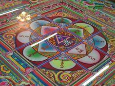 Tibetan Buddhist Sand Mandala