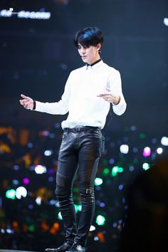Sehun - I didn't think that leather type pants were hot until I discovered…