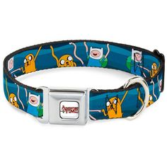 Buckle-Down ATA Adventure Time Logo White Dog Collar * Find out more about the great product at the image link. (This is an affiliate link and I receive a commission for the sales)