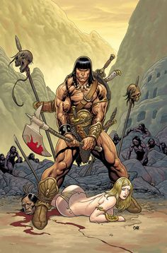 Conan, depicted by Frank Cho