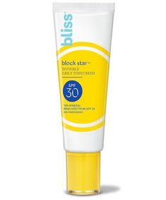 Bliss Block Star Invisible Daily Sunscreen, $22 Best Sunscreens, Green Tea Extract, Tinted Moisturizer, Sun Protection, Active Ingredient, Bliss, Skin Care, Mineral