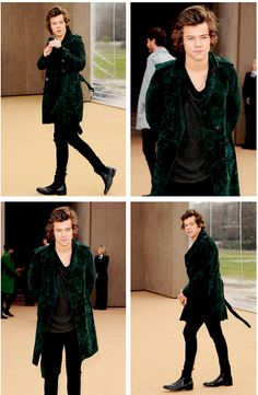 Burberry Fashion Show. I love when he goes to fashion shows. Love it.