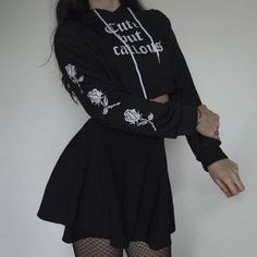 Find images and videos about fashion, black and grunge on We Heart It - the app to get lost in what you love. Punk Outfits, Retro Outfits, Grunge Outfits, Cute Casual Outfits, Girl Outfits, Mode Swag, Mode Emo, Egirl Fashion, Cute Fashion