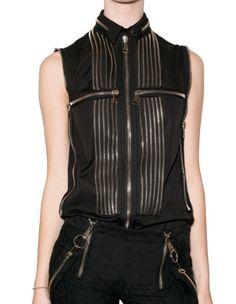 Givency SS2011 zipper shirt details