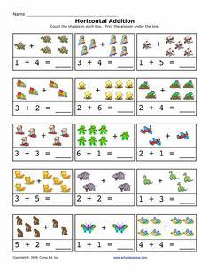 FREE worksheets, create your own worksheets, games. Math Addition Worksheets, Kindergarten Math Worksheets, Math Activities, Free Worksheets, Free Preschool, Preschool Printables, 2nd Grade Math, Math For Kids, Math Lessons