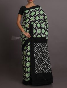 Aarushi Splendorous Blocks And Circles Pure #IkatCottonSaree
