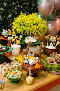 67 Trendy Baby Shower Ideas For Boys Themes Jungle First Birthday Parties Safari Theme Birthday, Baby Boy 1st Birthday Party, Safari Birthday Party, First Birthday Parties, First Birthdays, Idee Baby Shower, Boy Baby Shower Themes, Baby Shower Decorations, Party Deco