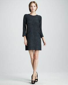 Rebecca Taylor Blue Boucle Shift Dress