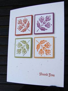 Thanksgiving Card...Stampin' Up...Day of Gratitude...matted inchies...clean and simple...