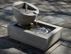 Genesis II Fountain - the ultimate modern fountain with it's clean lines and geometric shapes.