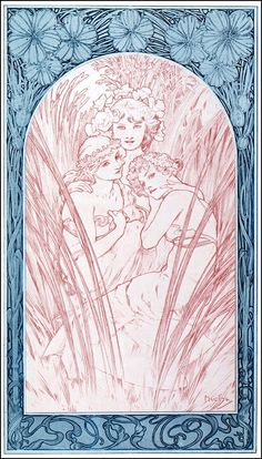 Alphonse Mucha - Documents Decoratifs, Plate 3, 1901
