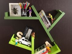Sectional Wall-Mounted Bookcase TREE by @Dearkids