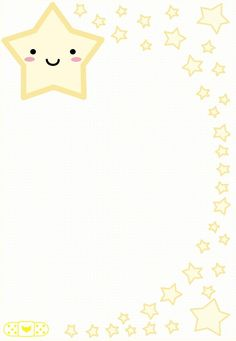 Little Star stationary Borders For Paper, Borders And Frames, Orla Infantil, Scrapbook Paper, Scrapbooking, Printable Lined Paper, Note Memo, Kids Background, Baby Posters