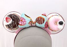 Because everything tastes better when it's Mickey shaped. Like these Donut Mouse Ears? Come and check us out! Mickey Mouse Ears Headband, Minnie Mouse, Easy Birthday Desserts, Ear Headbands, Disney Inspired, Fascinator, Decoden, Hair Accessories, Kawaii