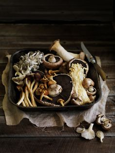 Mushrooms - William Meppem for Gourmet Traveller MUSHROOMS ARE HIGH IN SELENIUM which is a nutrient that feed the brain.