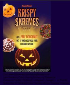 FREE KRISPY KREME DONUTS - Go Trick Or Treating At Krispy Kreme On Halloween October 31, 2014 - STACKING COINS SAVING MONEY SCSM #Donuts #FreeForHalloween #HalloweenFreebies #KrispyKreme #FreeTreats #FreeSnacks #FreeDonuts #StackingCoins #SavingMoney #SCSM #HowlOWeen #KidsCostumes #TrickOrTreating #Pumpkins