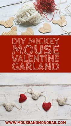 Create your own DIY Valentine Garland inspired by Mickey Mouse! We include all of the materials needed and the step by step instructions. Celebrate Valentine's Day with a touch of Disney!