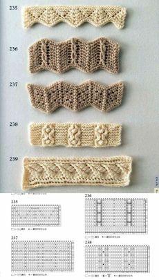 36 belos bicos e barrados em tricô para copiar! Baby Knitting Patterns, Crochet Edging Patterns Free, Lace Knitting Stitches, Loom Knitting, Knitting Designs, Stitch Patterns, Knitting Charts, Knitting Needles, Crochet Diy