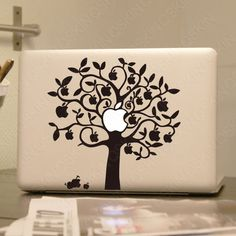 Apple tree Decal laptop Stickers macbook decal macbook door Qskin, $9.99