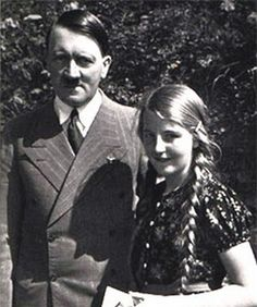 pinner writes: Geli Raubal and Adolf Hitler. Geli was his neice (half sister's daughter). They were romantically involved from when she was 17 until her suicide when she was 23, ostensibly because she couldn't take his controlling nature anymore.