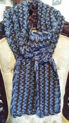 Cozy Zig Zag #Scarf with Braided Border FREE shipping by #yarntivity Check out this item in my #Etsy shop https://www.etsy.com/listing/249472435/cozy-zig-zag-scarf-with-twist-border
