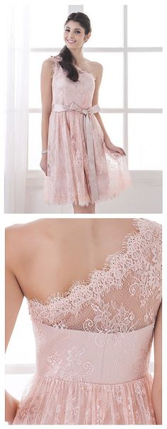 Love this Lace A-Line One Shoulder Dress, if you want to show off your beautiful back in your 2015 new school year #homecoming, this is the one! Click to share your homecoming great deal from Lightinthebox and 100% get FREE GIFT until 31th Aug.