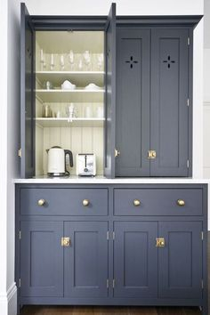 Modern Kitchen Design : Our customers sent us this beautiful picture of their deVOL closed larder cupboa Kitchen Furniture, Kitchen Decor, Kitchen Design, Country Furniture, Furniture Storage, Farmhouse Furniture, Painted Furniture, Kitchen Ideas, Devol Kitchens