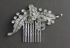 Crystal Bridal Hair Comb Wedding Hair by JamJewels1 on Etsy, $57.00