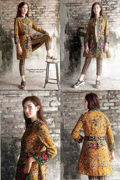 When Traditional Indonesia's textile : Tenun batik gedog Tuban meets Hungarian embroidery ...This well-tailored stunning elegant long jacket will add statement appeal to your outwear collection.features handmade chinese frog buttons,contrastinng waistband,hemline,sleeveline etc each details meaning to create a standout piece that  will enliven your look.