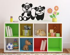 Panda Brothers wall decal, wall sticker, wall tattoo. styleandapply.com