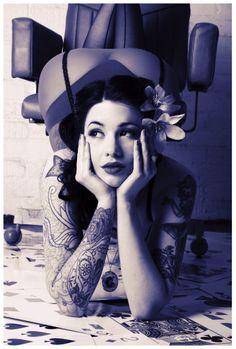 http://www.facebook.com/ilovetattooedwomen    Tattooed Pinup Model Collection - June 2012