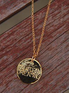 Gold California Dreaming Necklace xo