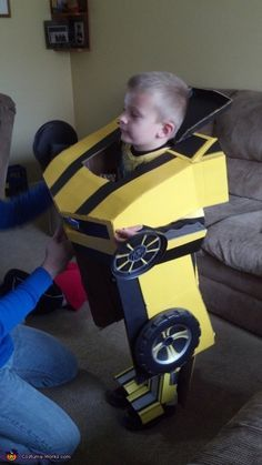 Stacey: A boy and a dream. My 5 year old son loves cars, the BUMBLE BEE CAMARO is his absolute favorite. We try to create our own costumes every year. This...
