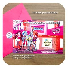 Convite - Invitation • Monster High