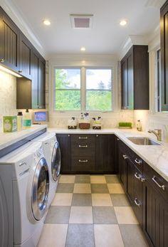 Urbane shingle style Residence - traditional - laundry room - san francisco - Polsky Perlstein Architects