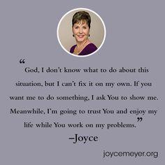Faith Quotes, Bible Quotes, Bible Verses, Scriptures, Qoutes, Faith Prayer, Faith In God, God Prayer, Joyce Meyer Quotes
