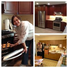 """Wishing all mothers a very happy Mother's Day!  We know one lucky mom who is celebrating in her brand new kitchen. The winner of our Gifted Mom's contest, Maureen Hamtil of St. Louis, MO - """"Top Chef"""", does not have """"Kitchen Nightmares"""" anymore. Featured are Before (bottom right) and After photos. Kitchen Nightmares, French Door Refrigerator, Happy Mothers Day, New Kitchen, St Louis, Cabinets, Kitchen Appliances, Mom, Photos"""